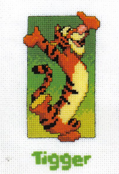 Disney Winnie The Pooh Tigger With Name Cross Stitch Kit
